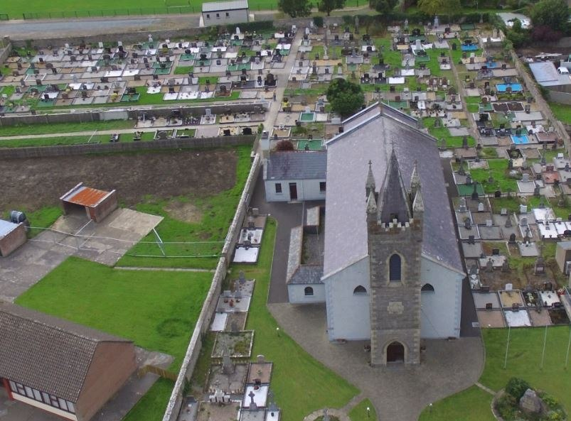 St-Josephs-church-The-Rock-Ballyshannon-Aerial-View