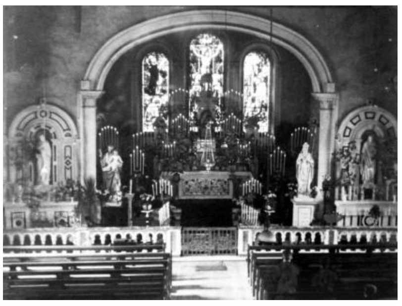 Inside St Josephs Church The Rock Ballyshannon - Early 1900